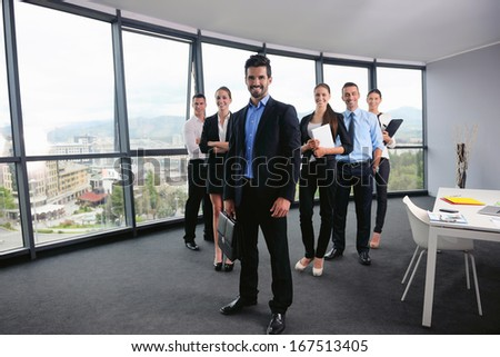 business people group as team representing concept of friendship and teamwork - stock photo