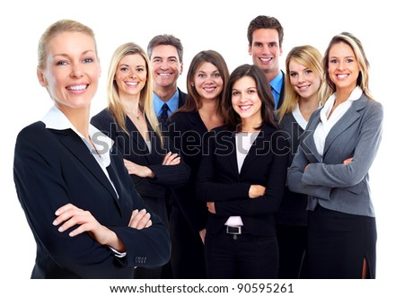 Business people group. Business team. Isolated over white background. - stock photo