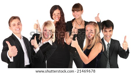business people group with ok gesture