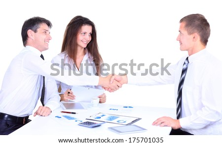 Business people handshake, businessmen hand shake - stock photo