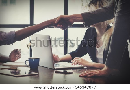 Business People Handshake Greeting Deal Concept - stock photo