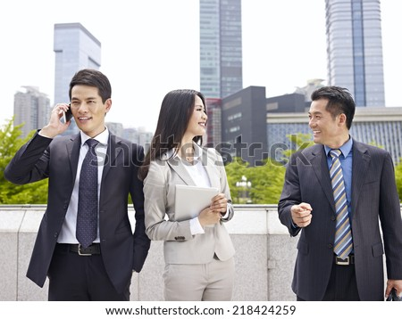 business people having a good time. - stock photo