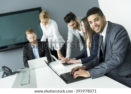 Business people having a meeting in the office