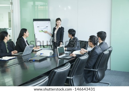 Business people having meeting