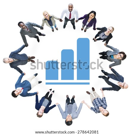 Business People Holding Hands and Development Concept - stock photo