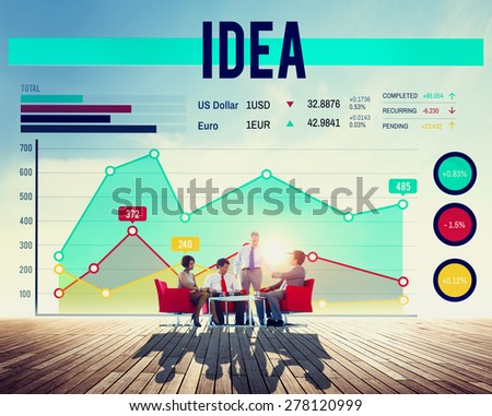 Business People Idea Graph Concept - stock photo