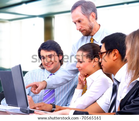Business people in a work meeting in the office