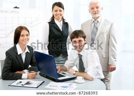 Business people in an  modern office