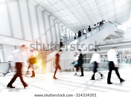 Business People in Asia Hong Kong Commuter Concept - stock photo