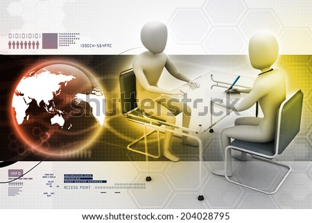 Business people in discussion - stock photo