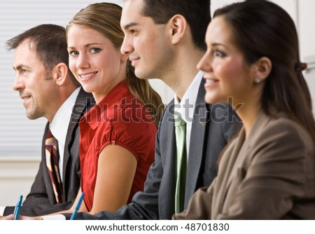Business people in meeting - stock photo