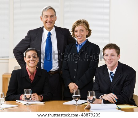 Business people in meeting