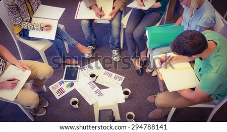 Business people in meeting at the office - stock photo