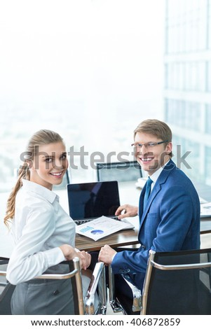 Business people in office
