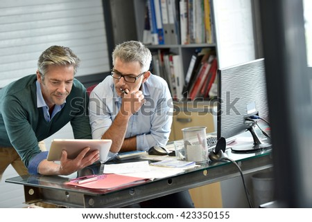 Business people in office meeting for project