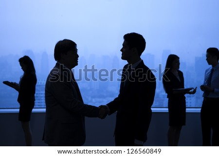 Business people in the city. - stock photo