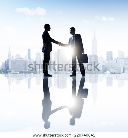 Business People in the City - stock photo