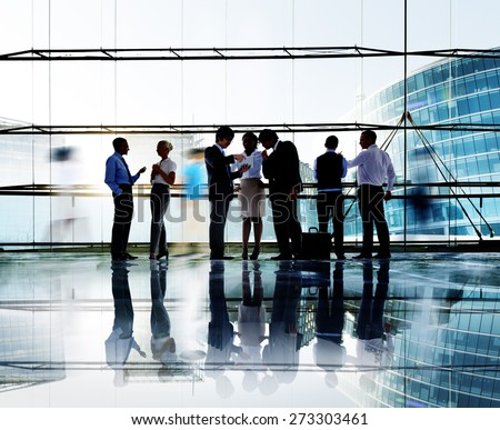 Business People Interaction Communication Colleagues Working Office Concept - stock photo