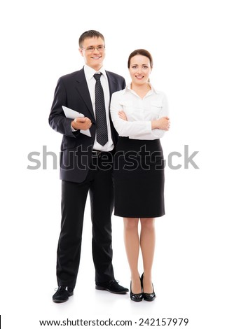 business people isolated on white - stock photo
