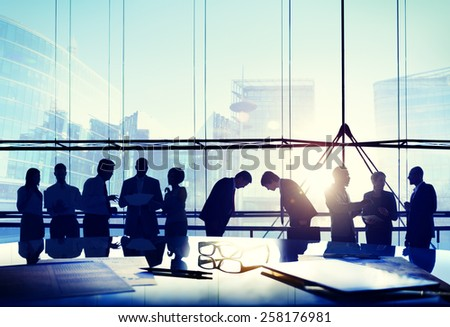 Business People Japanese Culture Bowing Respect Greeting Concept - stock photo