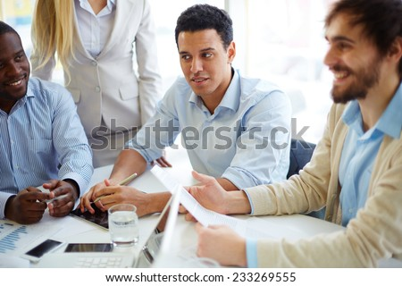 Business people meeting and planning - stock photo
