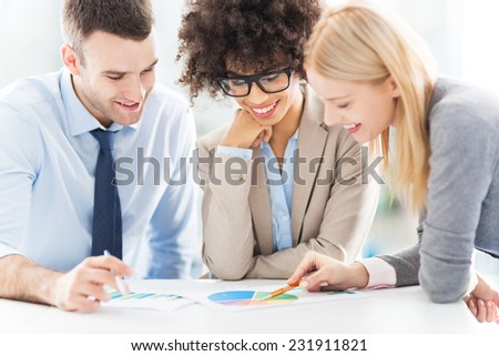 Business people meeting at table - stock photo