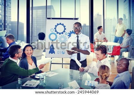 Business People Meeting Conference Speaker Presentation Concept - stock photo