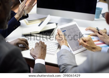 Business People Meeting Connection Communication Email Concept