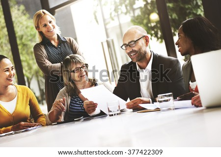 Business People Meeting Corporate Communication Teamwork Concept - stock photo