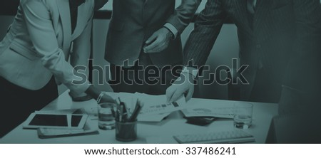 Business People Meeting Corporate Connection Teamwork Concept - stock photo