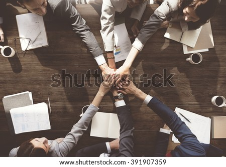 Business People Meeting Corporate Connection Togetherness Concept - stock photo