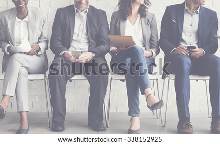 Business People Meeting Corporate Digital Device Connection Concept - stock photo