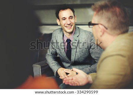 Business People Meeting Corporate Discussion Concept - stock photo