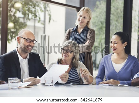 Business People Meeting Corporate Teamwork Collaboration Concept - stock photo