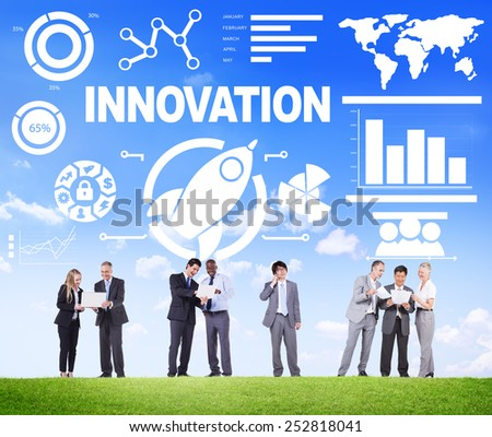 Business People Meeting Creativity Growth Success Innovation Concept - stock photo