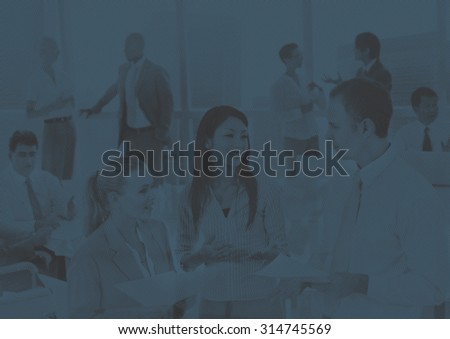 Business People Meeting Discussion Communication Concept - stock photo