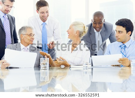 Business People Meeting Discussion Corporate Concept - stock photo