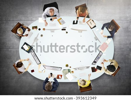 Business People Meeting Discussion Working Concept - stock photo