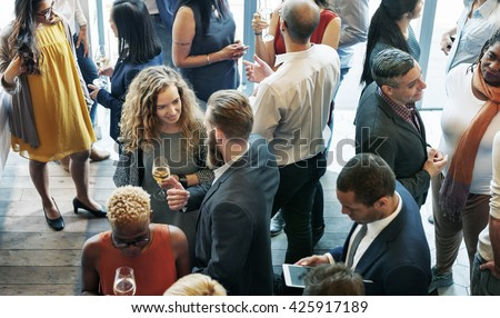 Business People Meeting Eating Discussion Cuisine Party Concept - stock photo