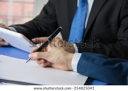 Business people meeting site - stock photo