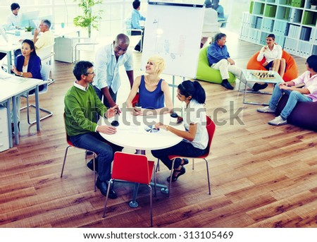 Business People Meeting Team Teamwork Support Concept - stock photo