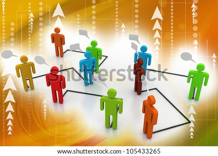 Business people network - stock photo