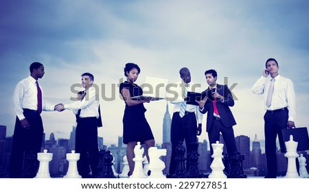 Business People New York Meeting Concept - stock photo