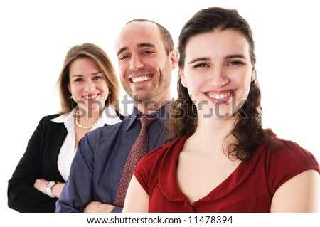 business people on an isolated white background - stock photo