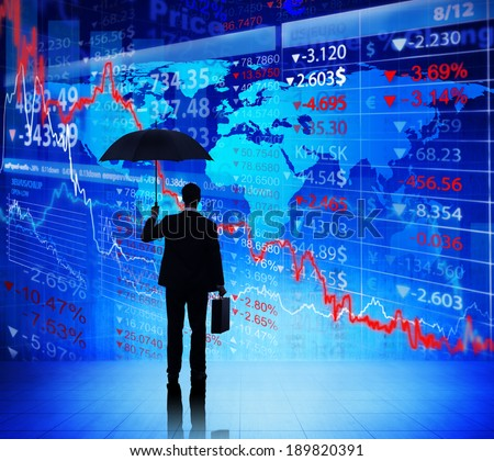 Business People on Economic Crisis - stock photo