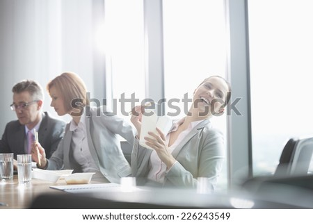 Business people on lunch break - stock photo
