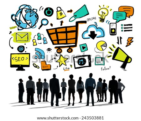Business People Online Marketing Professional Team Aspiration Concept - stock photo