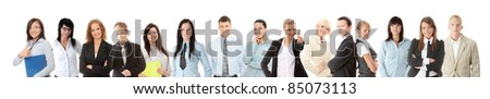 Business people or students - stock photo