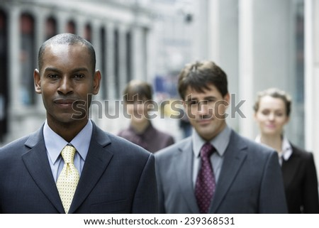 Business people Outside Office Building - stock photo