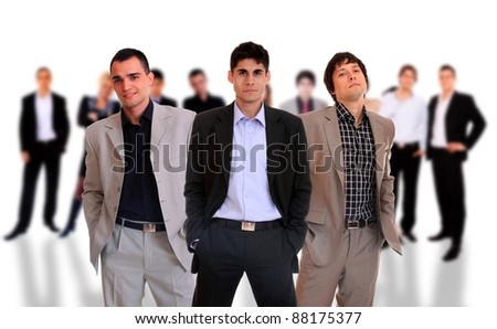 Business people over white background - stock photo